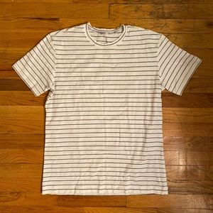 Black and white striped lulu shirt